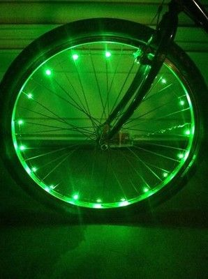 Green Led Bike Lights For Your Spokes On Your Bike A Fun Way To