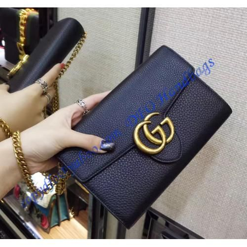 Gucci GG Marmont Black Leather Mini Chain Bag #bags #handbags #luxury #affordable #gucci #guccihandbags #accessoires #women  #love #shopping #chainbags