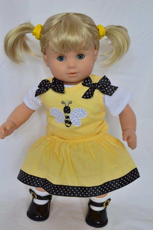 Amazon.com: SPRING BEE DRESS FOR AMERICAN GIRL DOLLS BITTY TWINS ...