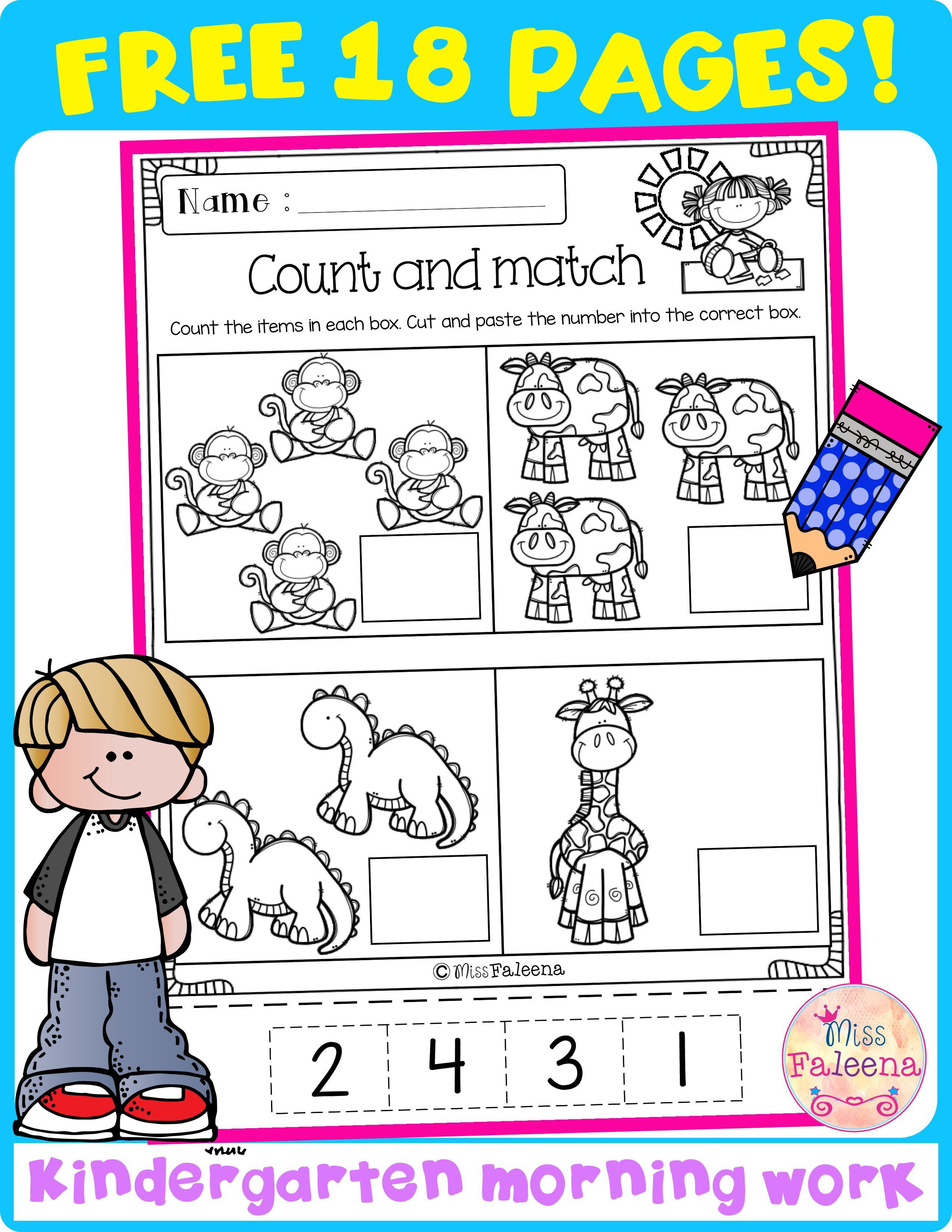 These Pages Are Great For Preschool Kindergarten And