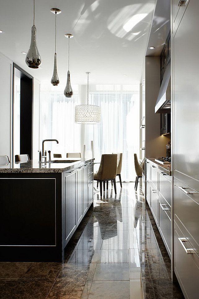 Interior Design Open Kitchen: Kitchen -. Modern Sleek Open Concept Kitchen With Island