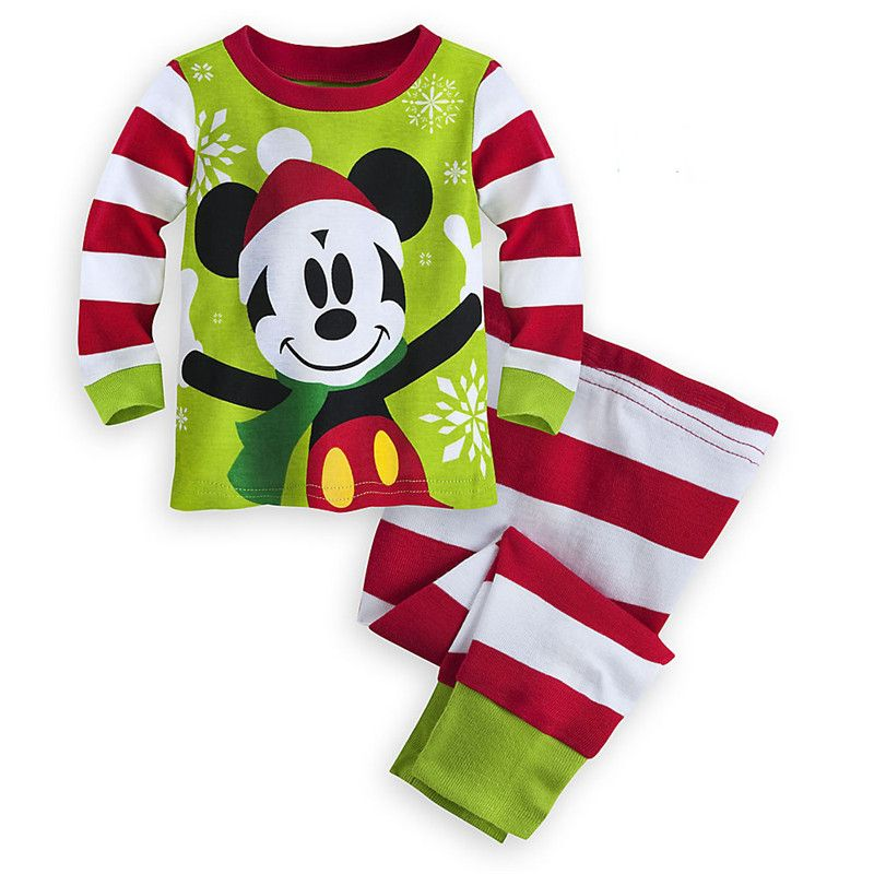 Long sleeve kids pajamas winter warm thicken pijamas kids christmas