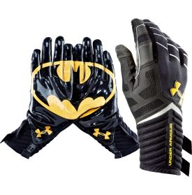 af23e4afd Under Armour Adult Alter Ego Batman Receiver Gloves - Dick s Sporting Goods