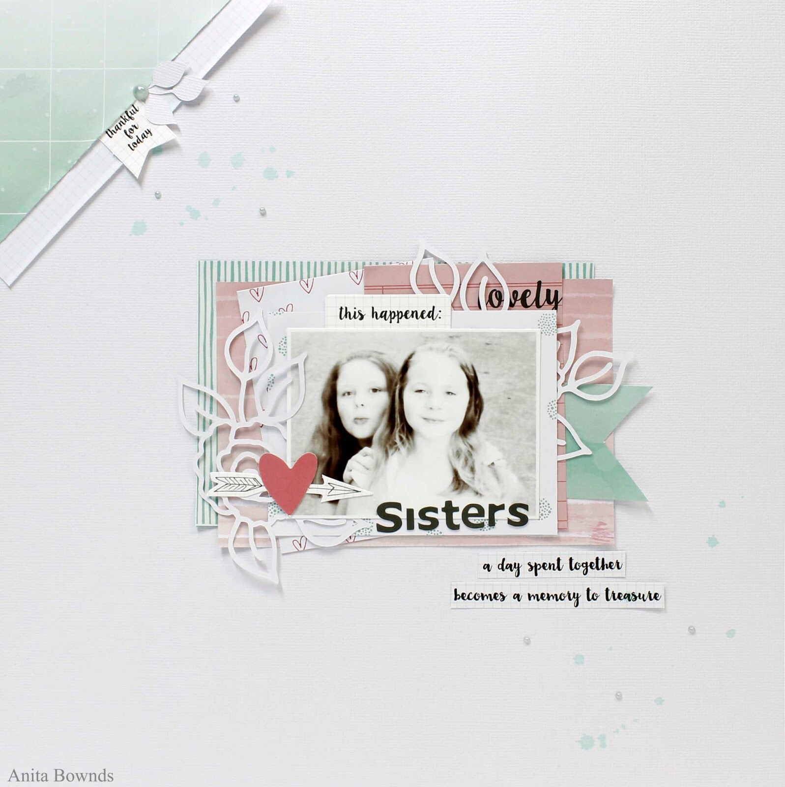 Sisters #layout by Anita Bownds for #kaisercraft
