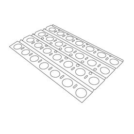 Heavy Duty Bbq Parts Stainless Steel Heat Plate 92551
