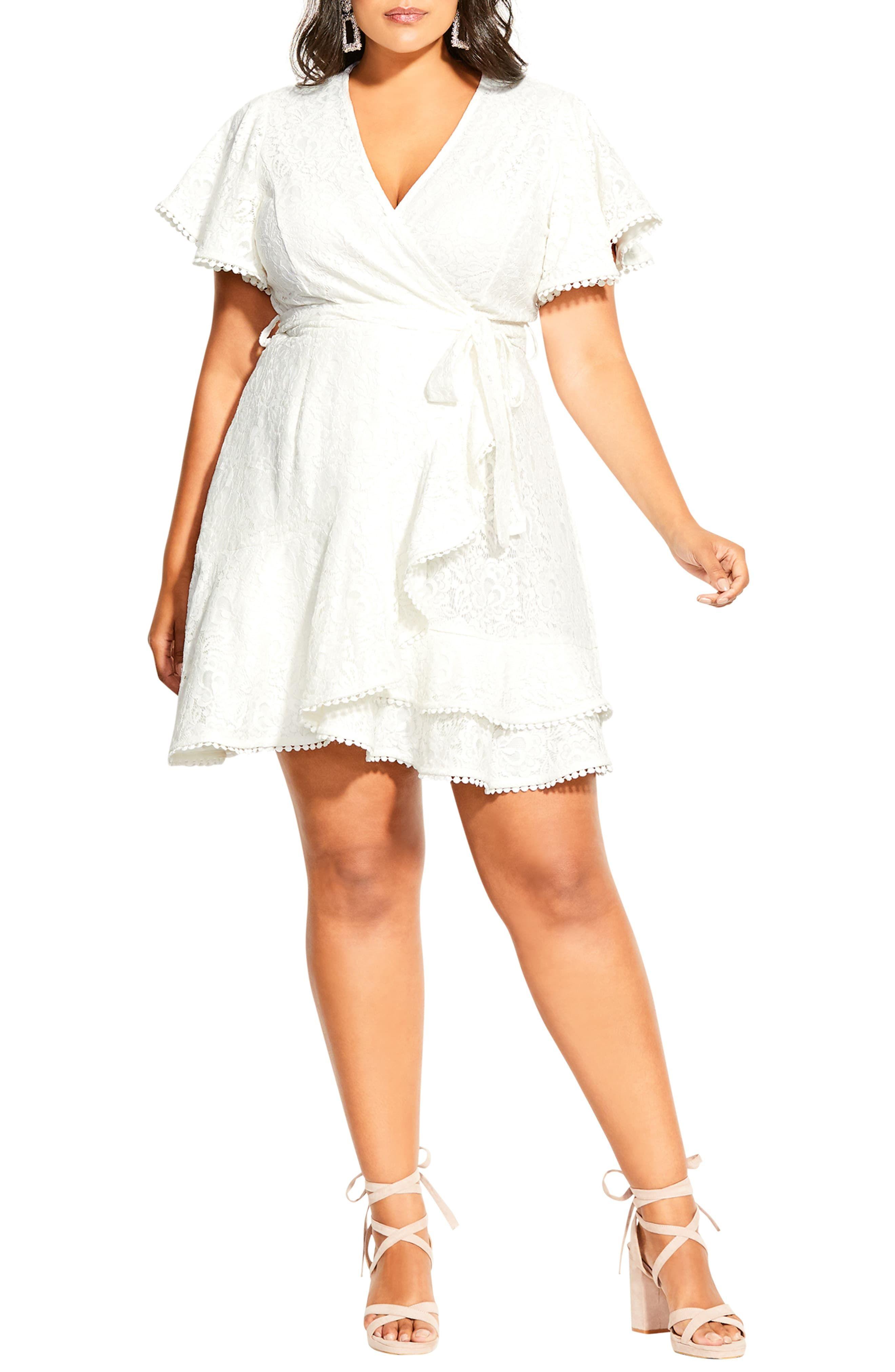 City Chic Lace Faux Wrap Minidress Plus Size Nordstrom Color Block Maxi Dress Mini Dress Plus Size Maxi Dresses [ 4048 x 2640 Pixel ]