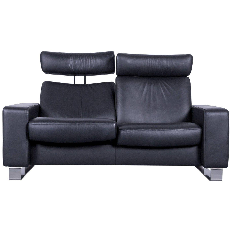 Ekornes Stressless Space Leather Sofa Black Recliner Leather