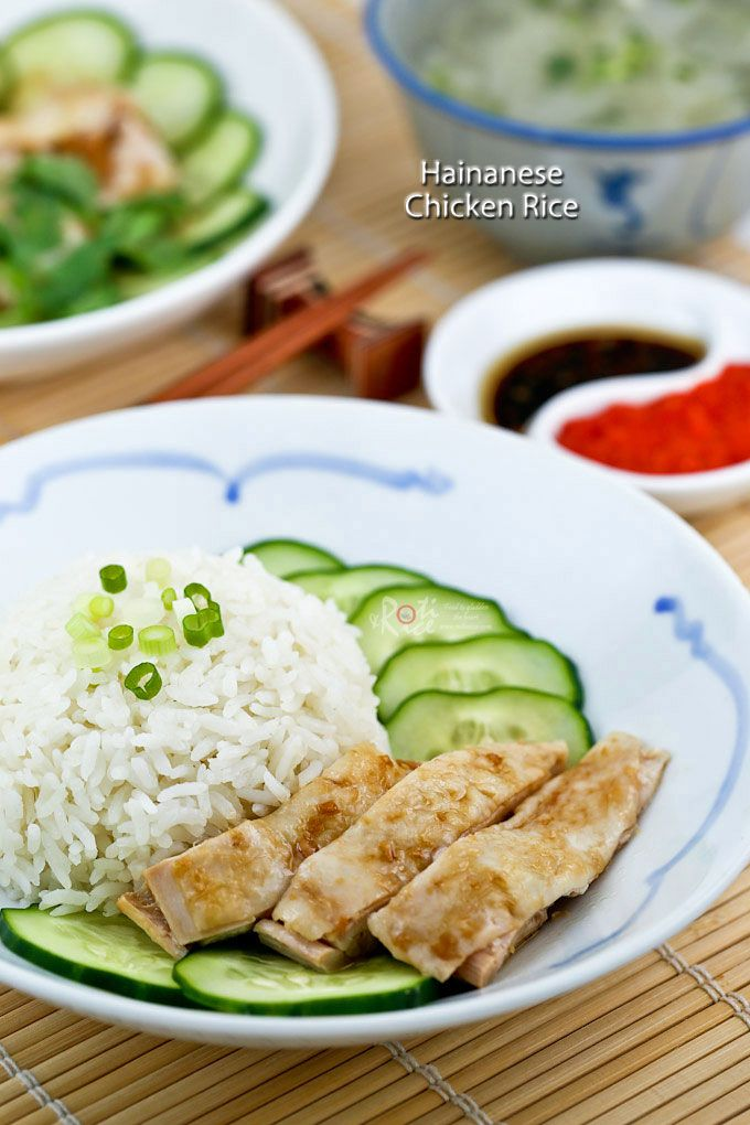 Homemade Hainanese Chicken Rice Served With Silky Smooth Poached Chicken Thinly Sliced Cucumber And Garlic Chili Sauce Hainanese Chicken Chicken Rice Chicken