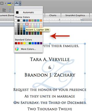 How To Print A Monogram On Your Wedding Invitations In Microsoft Word