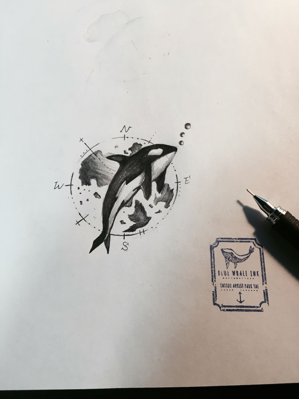 Pin On Blue Whale Ink Tattoo Design
