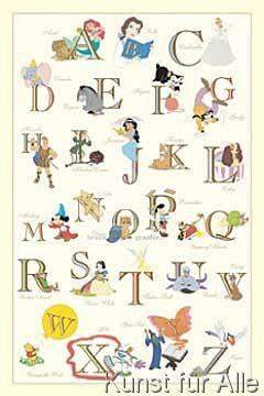 walt disney the disney alphabet deko pinterest alphabet disney und bilder. Black Bedroom Furniture Sets. Home Design Ideas