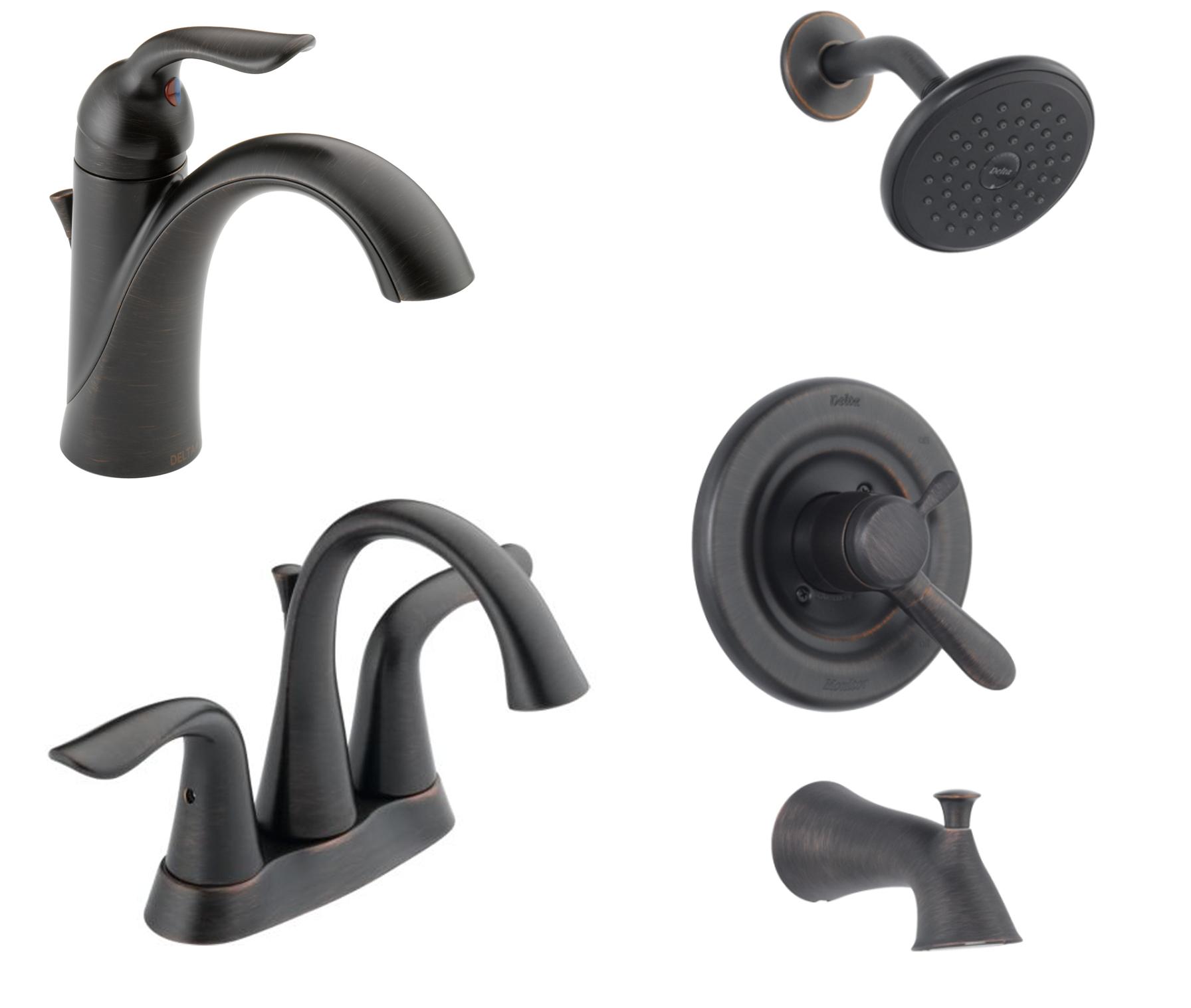 Bathrooms Delta Lahara Oil Rubbed Bronze Plumbing Fixtures Oil Rubbed Bronze Bathroom Bronze Bathroom Fixtures Plumbing Fixtures
