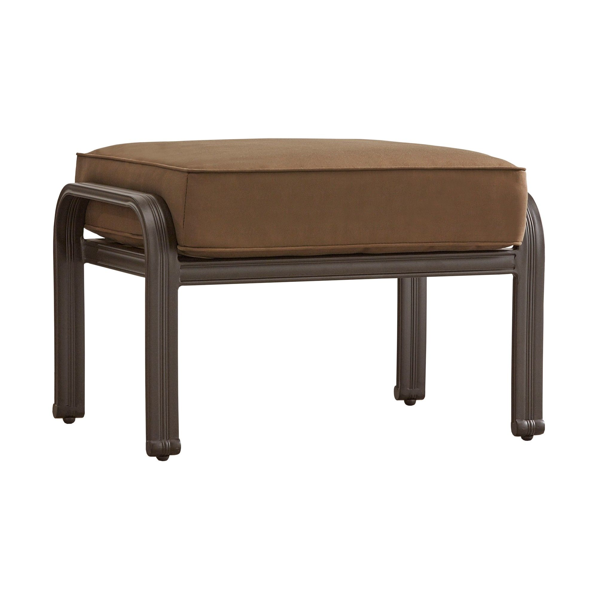 Exceptionnel Bedford Hill Aluminum Patio Ottoman With Cushion   Brown   Inspire Q