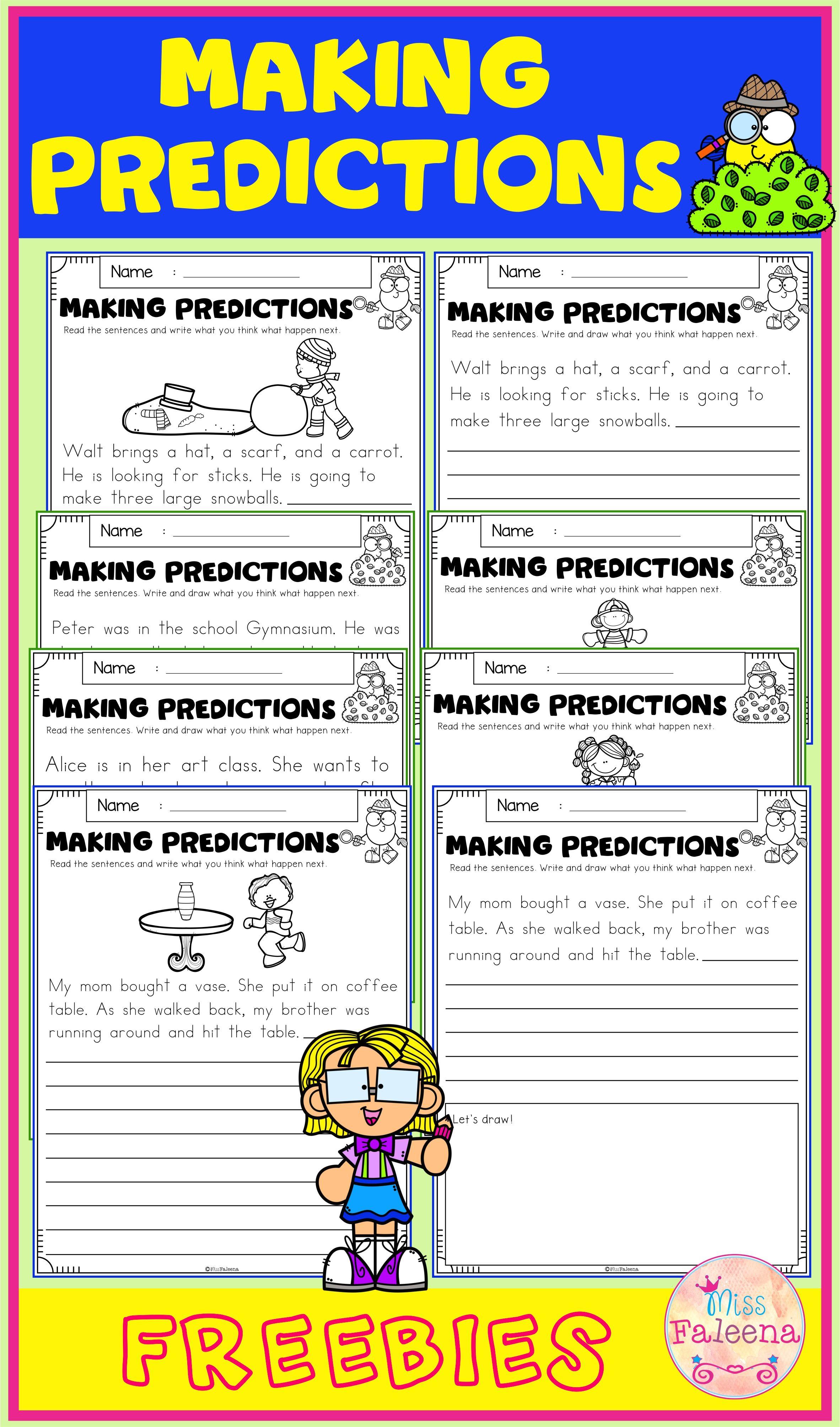 Free Making Predictions Making Predictions First Grade Worksheets 2nd Grade Worksheets