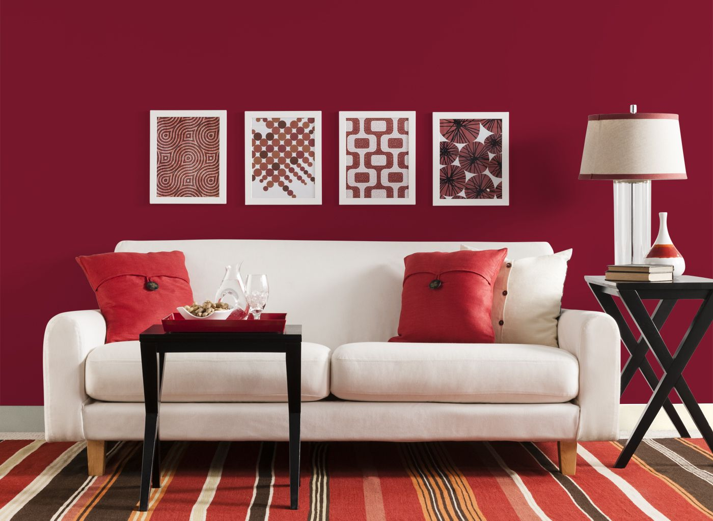 Living Room in Red Delicious Colores de interiores