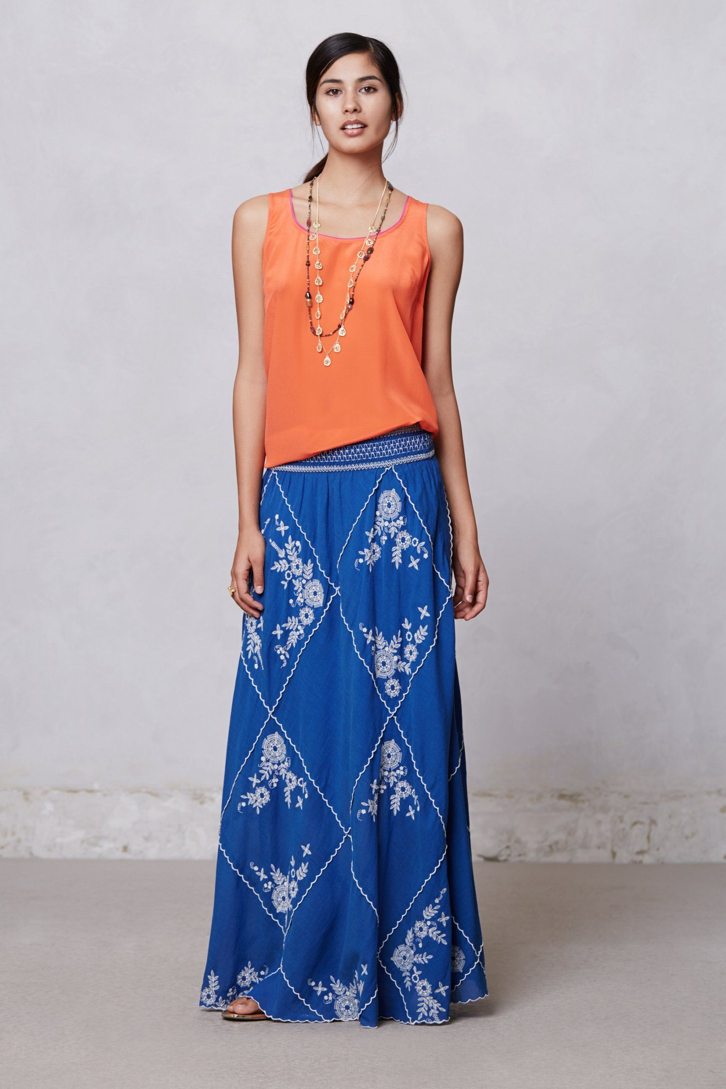 Ping Embroidered Maxi Skirt - Anthropologie.com | | wear ...