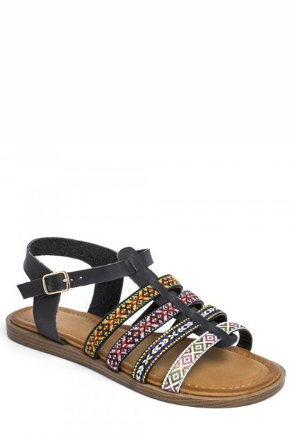 Needthatstyle - Black Aztec Sandals, £16.00 (http://www.needthatstyle.com/black-aztec-sandals/)