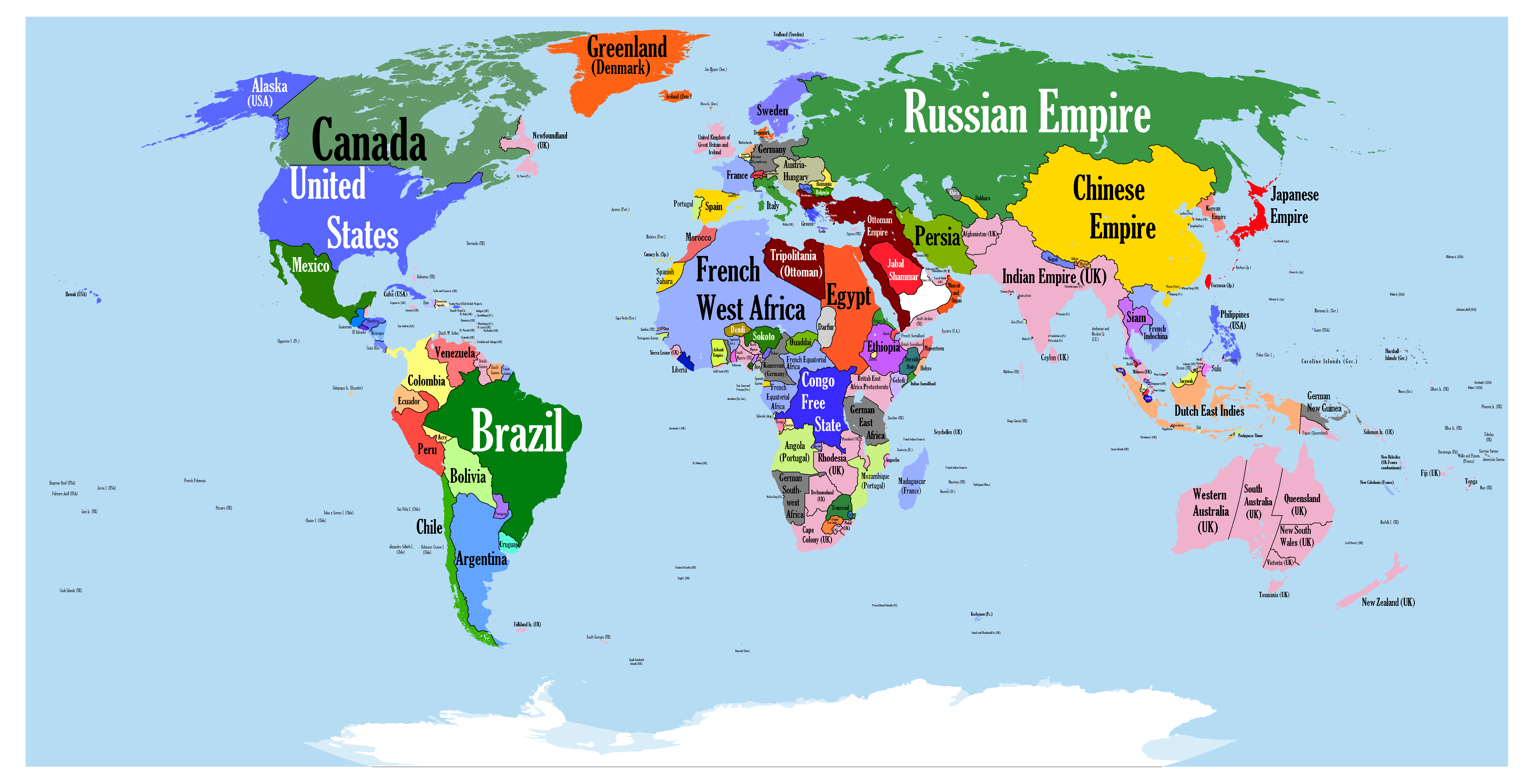 1900 World Map The World in 1900 | Maps | Map, World, European history