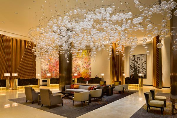 Find out the best luxury hotel lobby lighting design selection for