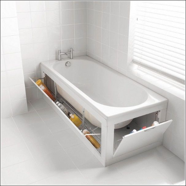 Storage Don T Waste The Space Under Your Tub Top 20 Creative Bathroom