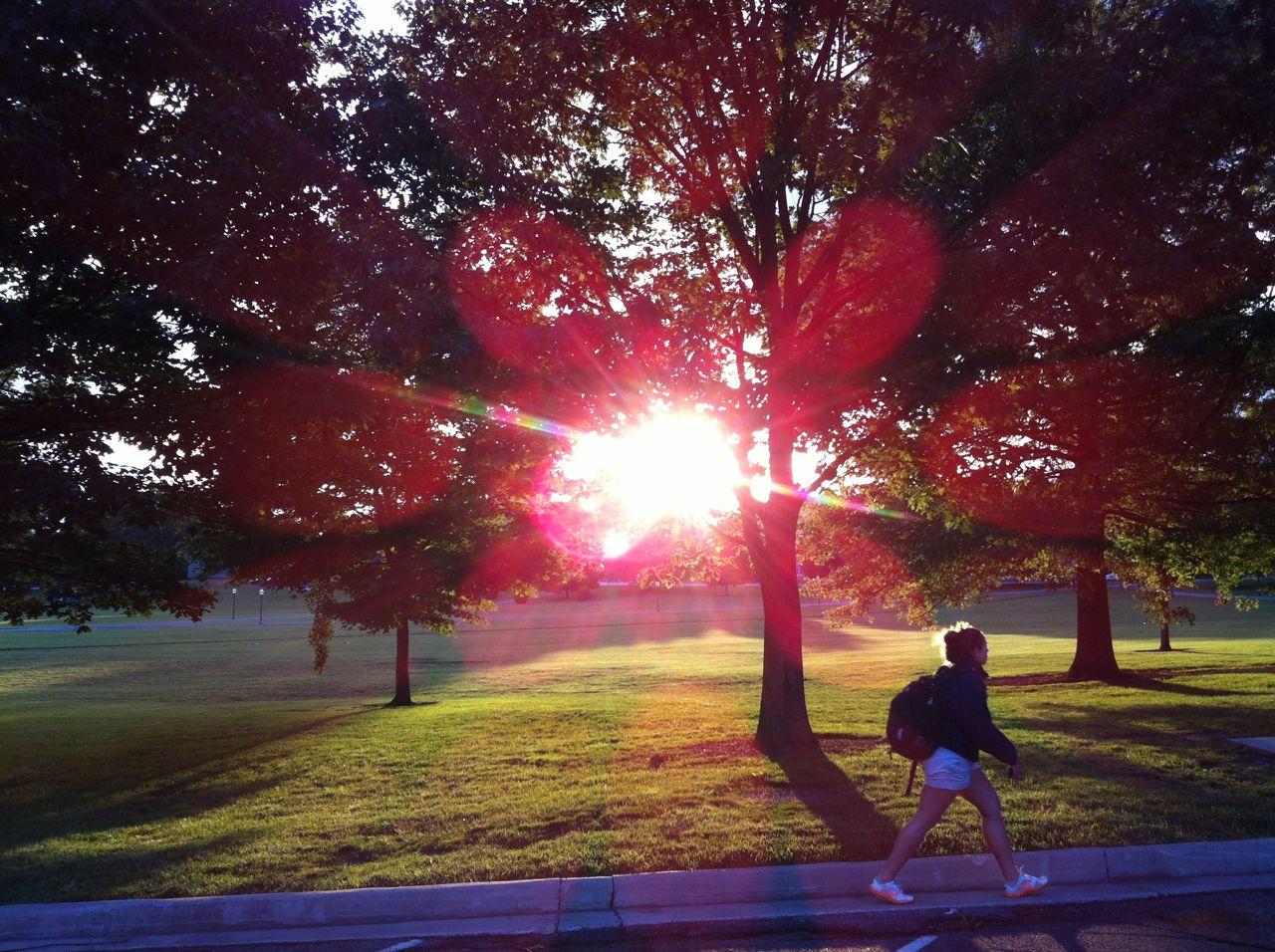 Virginia Tech Drillfield sunset Virginia tech campus