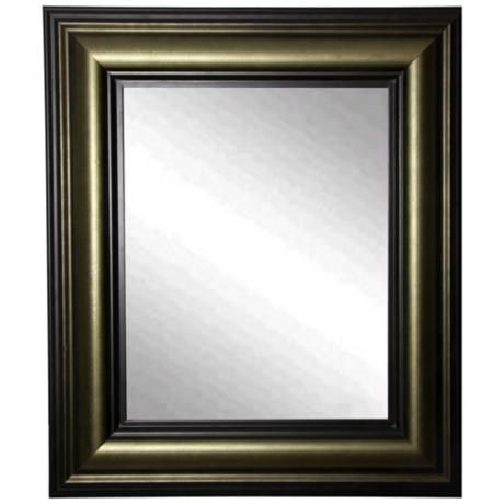 Glendford Bronze Antiqued Stepped 36 X 42 Wall Mirror Marcos