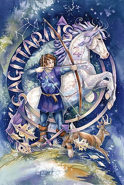 ♐ Sagittarius: Sagittarius is an eery 'dead on' intuition. They seem to know when things are going to happen. They have a 'radar' in that, if Sagittarius is thinking about someone, chances are they are thinking about them too. Susceptible to clairvoyance, clairaudience. They can easily perceive messages from the paranormal. (The Psychic Zodiac@darkmoontarot.tumblr.com)