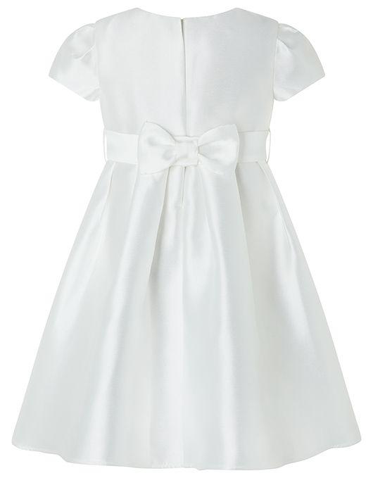 Baby Henrietta Duchess Satin Occasion Dress | Ivory | 0-3 Months | 8150532602 | Monsoon