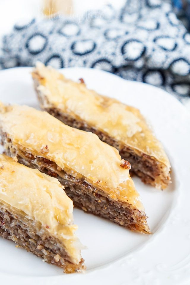 This simple and Traditional Baklava recipe is loaded with layers of cinnamon, nuts, and butter and saturated in a honey syrup!