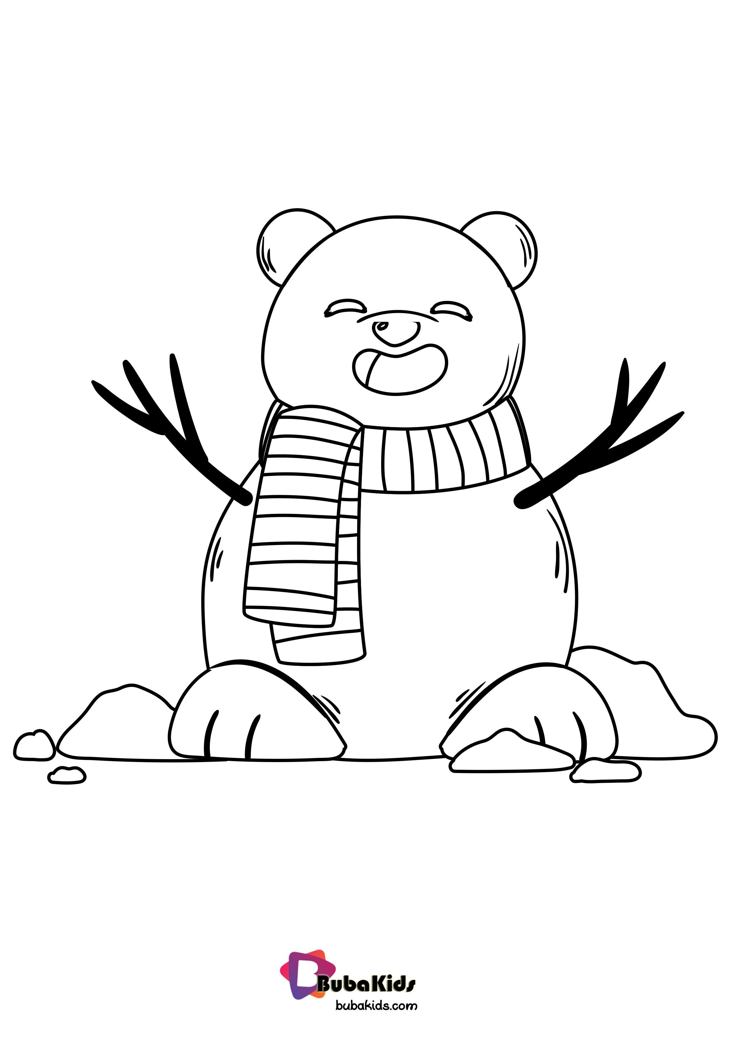 bearcoloring, snowmancoloringpage Bearcoloring,