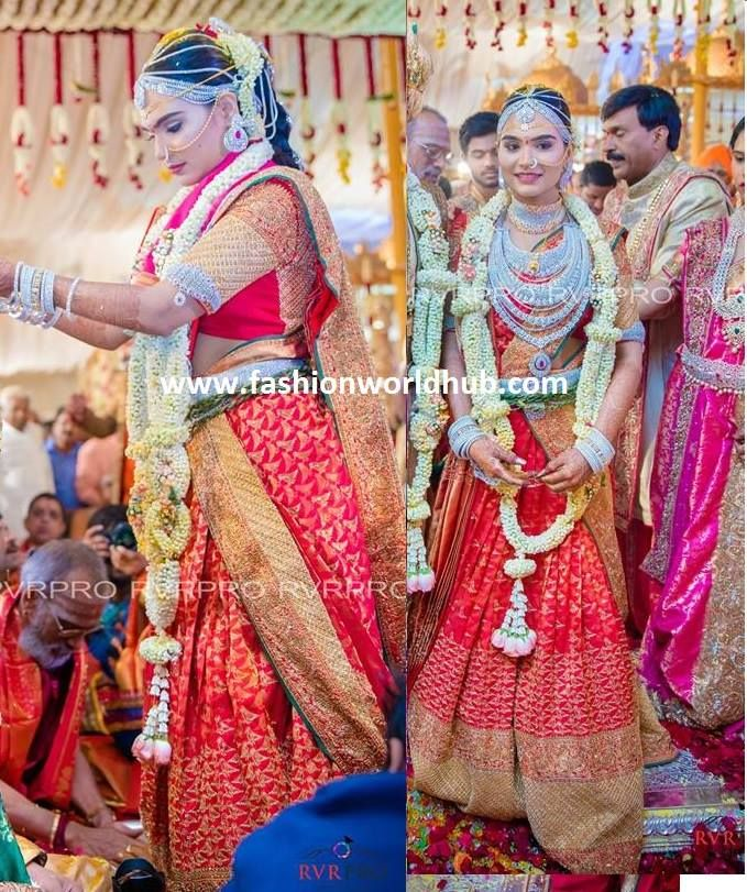 17 Crores Bridal Gold Saree of Gali Janardhan Reddy daughter