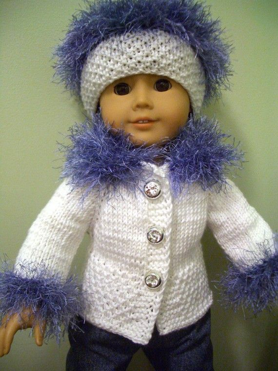 KNITTING PATTERN for American Girl 18 inch DOLL Beginner level ...