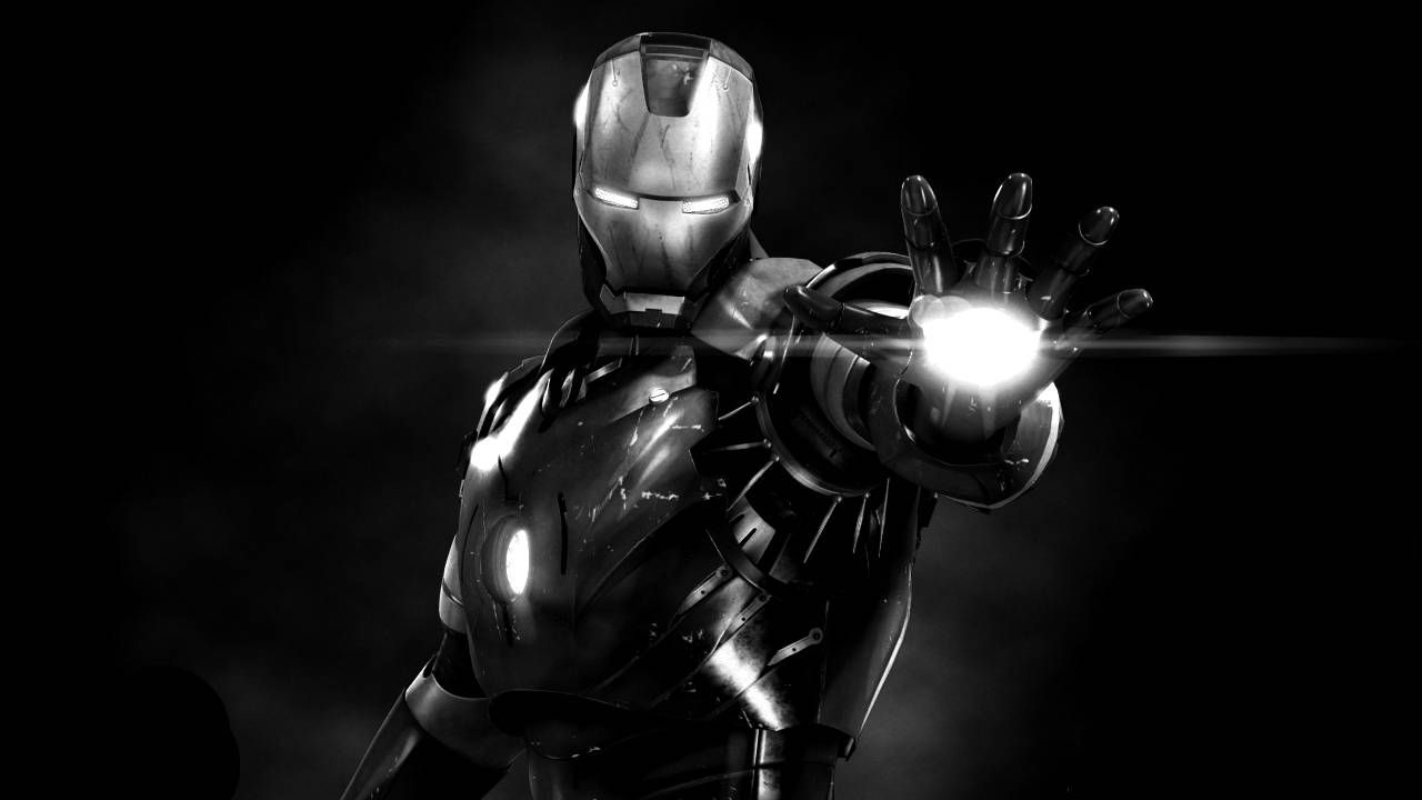 iron-man-3-black-and-white-photo-04-0004. 1,280×720 pixels