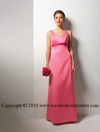 pretty and simple...what about in white with pale sage, pink or blue for the 'cummberbund' as a bridal gown?