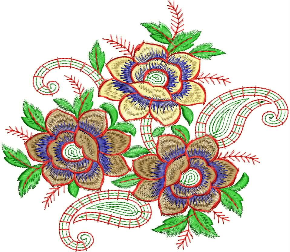 This is a three flower with kairy concept type embroidery this is a three flower with kairy concept type embroidery patchwork designour embroidery designer team has created such concept of embroidery designs to bankloansurffo Images