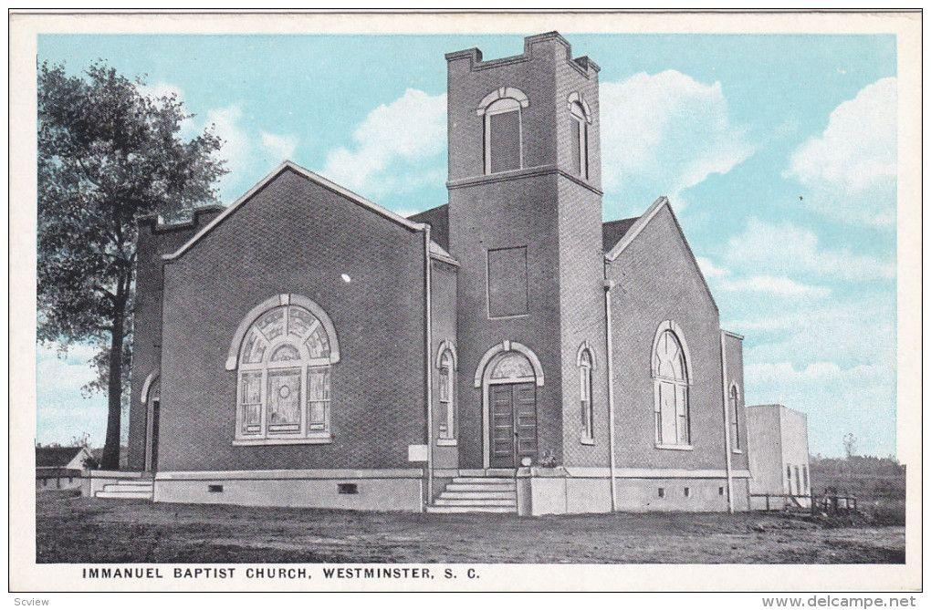 Immanuel Baptist Church , WESTMINSTER , South Carolina