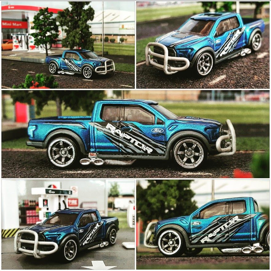 Custom Hot Wheels Ford Raptor Lowered On Cm6 Wheels Diecast
