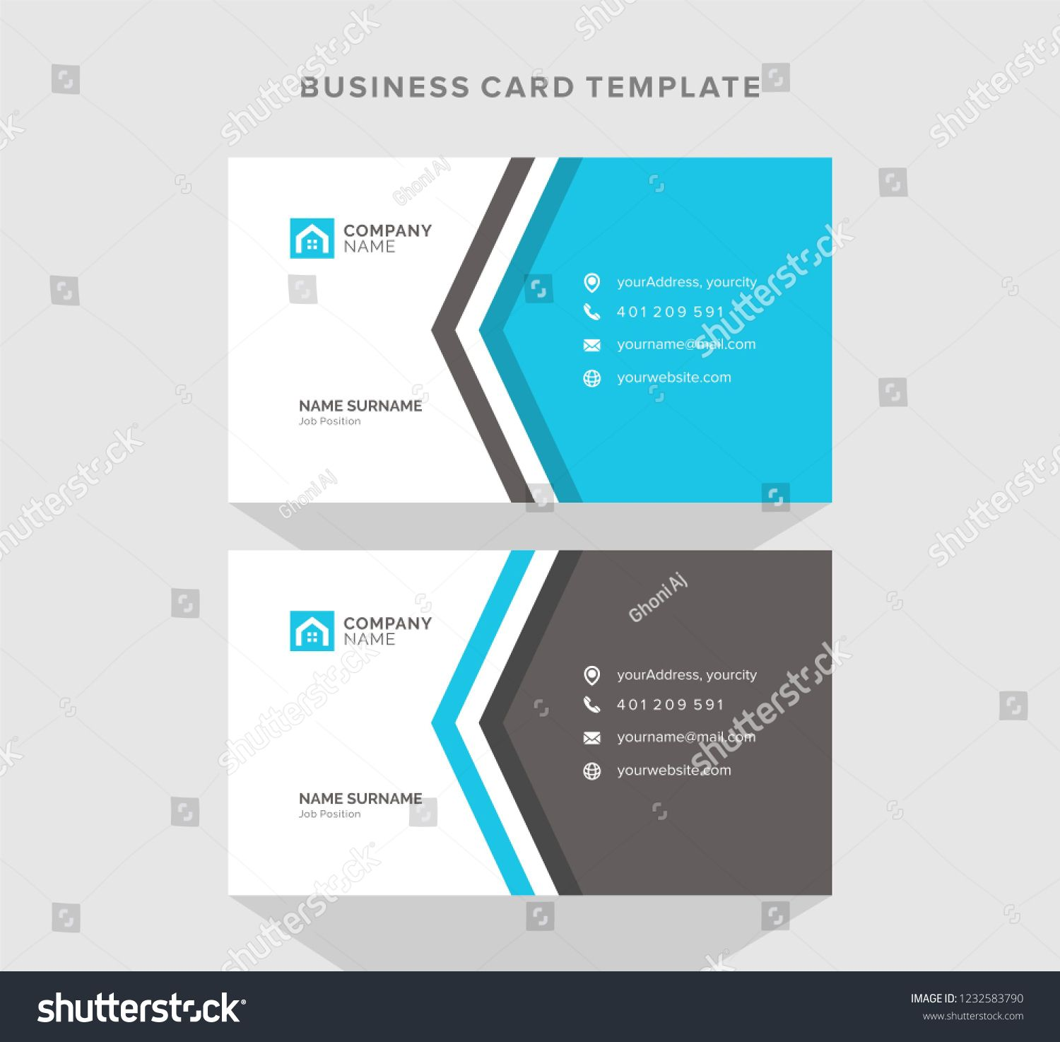 Construction And Sale Of Housing Business Card Design Vector Template Business Card Design Card Design Cards