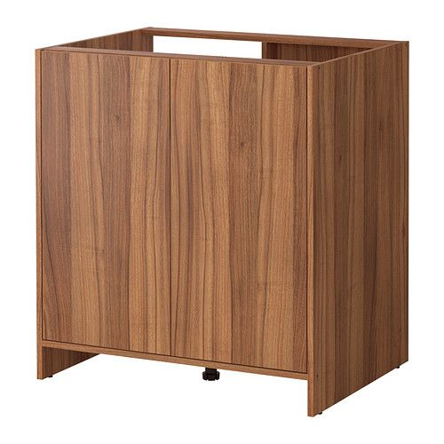 50 FYNDIG Base cabinet with doors - medium brown\/wood effect - fyndig k che ikea