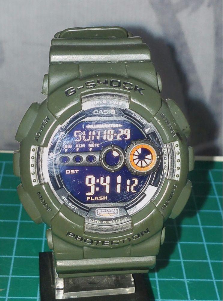 Used Casio G-Shock GD-100MS-3ER RED ILLUMINATION  GSHOCK  Sport ... e5e259805a6d