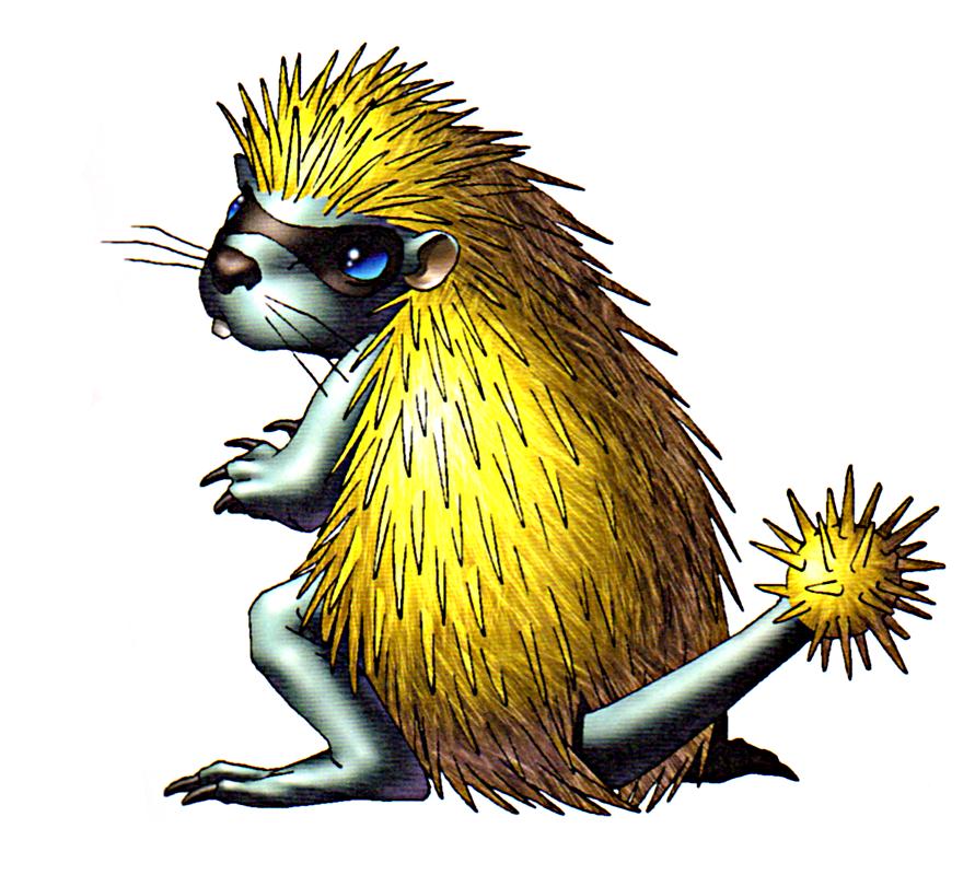 Cagrino- Gypsy Myth: A Yellow Hedgehog Creature That