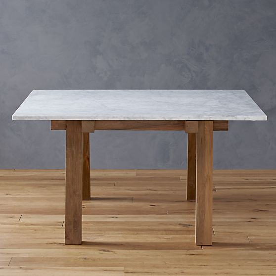 Riviera Square Marble Top Dining Table In Dining Tables Crate