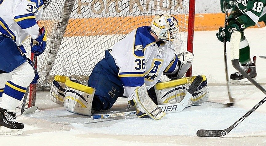 Cahill Records First Career Shutout in Hockey's 30 Win