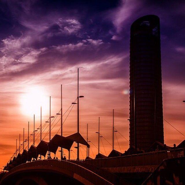 #Atardece en #Sevilla - #PuestaDeSol.