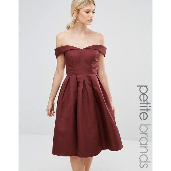 Chi Chi London Petite Off Shoulder Full Prom Midi Dress ($93 ...