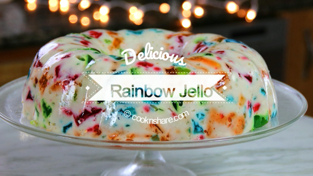 Rainbow Jello Cathedral Window Recipe Cook N Share World Cuisines Recipe Rainbow Jello Jello Rainbow Desserts
