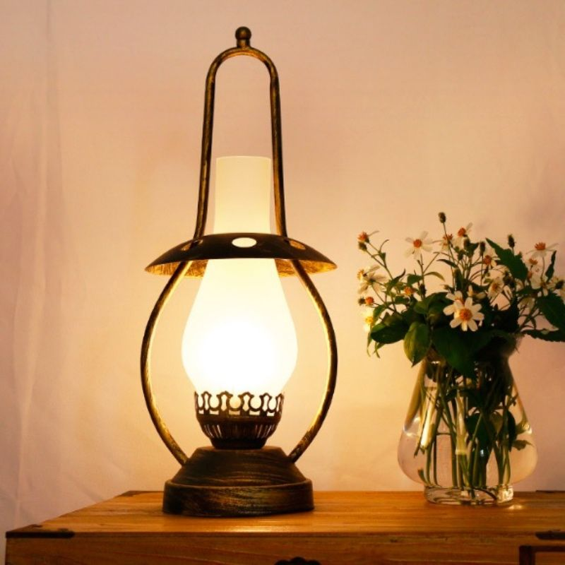 Lamp Table Chinese Iron Glass Exotic E27 Vintage Kerosene Led xerCBod