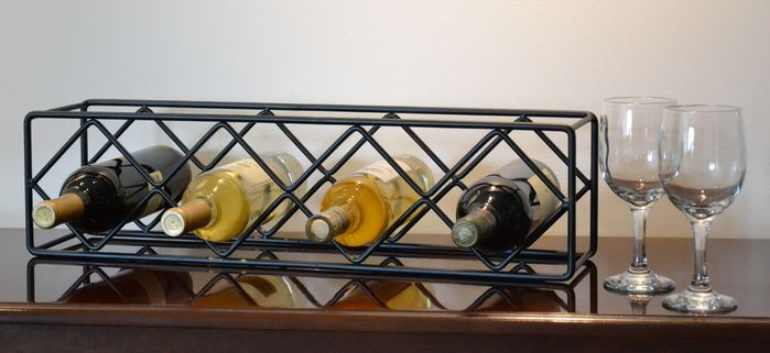 4 Bottle Tabletop Wine Bottle Rack Portas De Metal Floreiras Serralheria