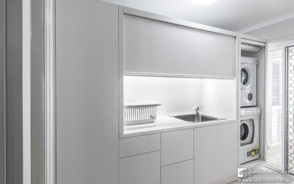Not A Kitchen Roller Door Or A Roller Shutter Tambortech Roller Doors Laundry Room Doors Laundry Doors