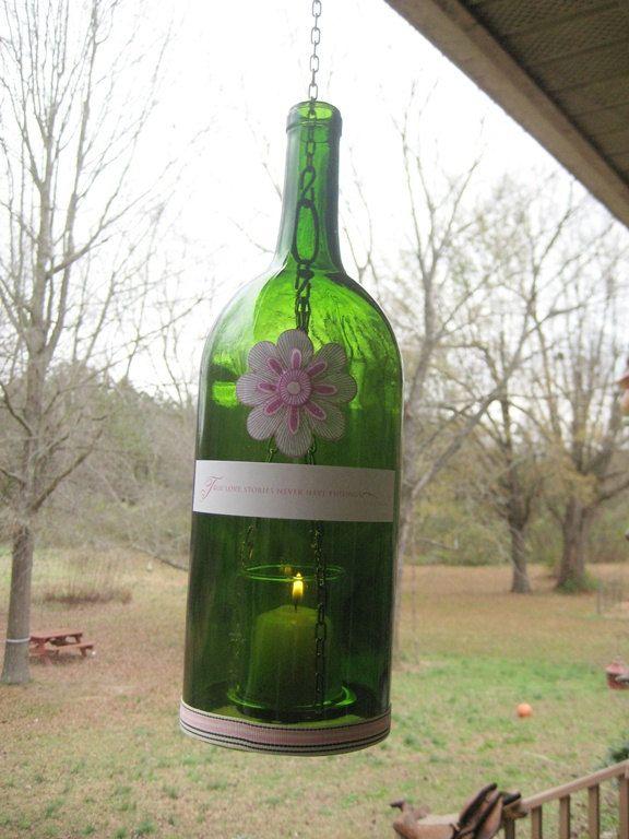 Recycled Wine and Liquor Votive Jars